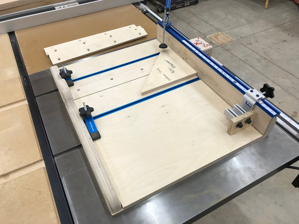 Plans for the extreme crosscut miter dado table saw sled for Table saw sled