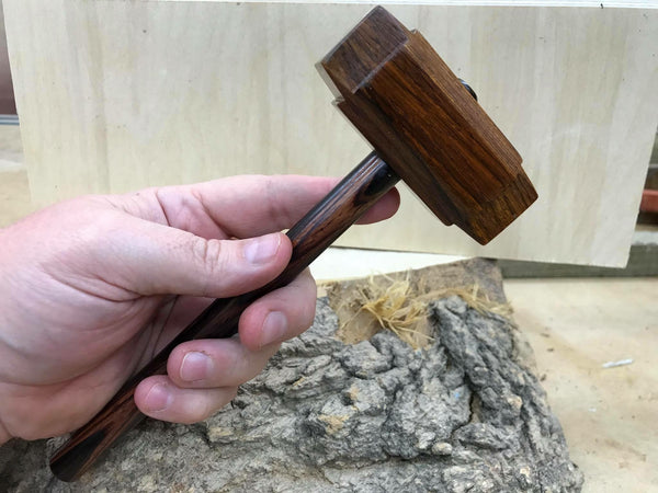 Micro Size woodworking Thor's hammer Mallet cocobolo Head cocobolo Handle
