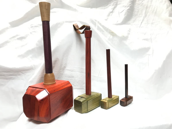 Micro Size woodworking Thor's hammer Mallet Lignum Head Padauk Handle