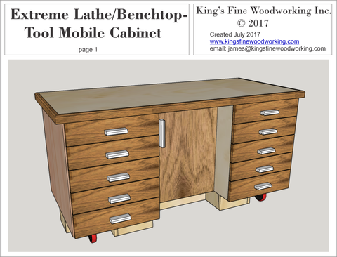 Extreme Lathe/Benchtop-Tool Mobile Cabinet Plans