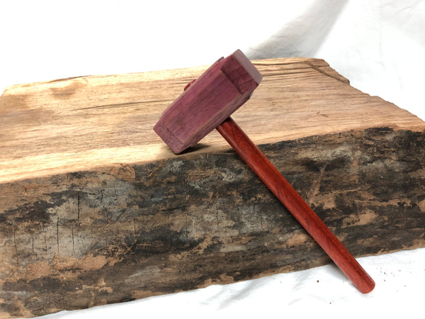 Micro Size woodworking Thor's hammer Mallet purpleheart Head Padauk Handle