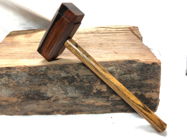Mid Size Thor's Hammer Woodworking Mallet Cocobolo Head Bocote Handle