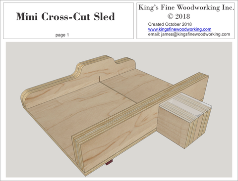 Mini Cross Cut Sled and Jobsite Saw Sled Plans