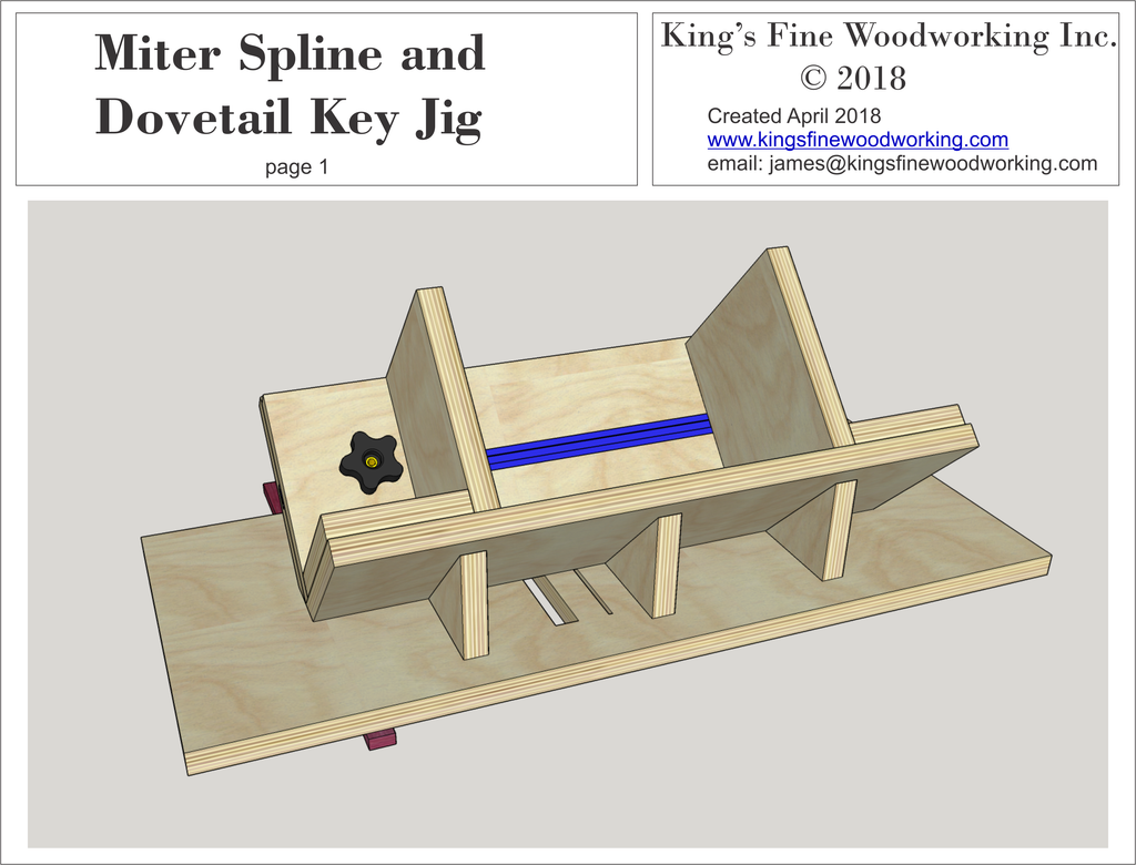 Miter Spline and Dovetail Key Jig Plans