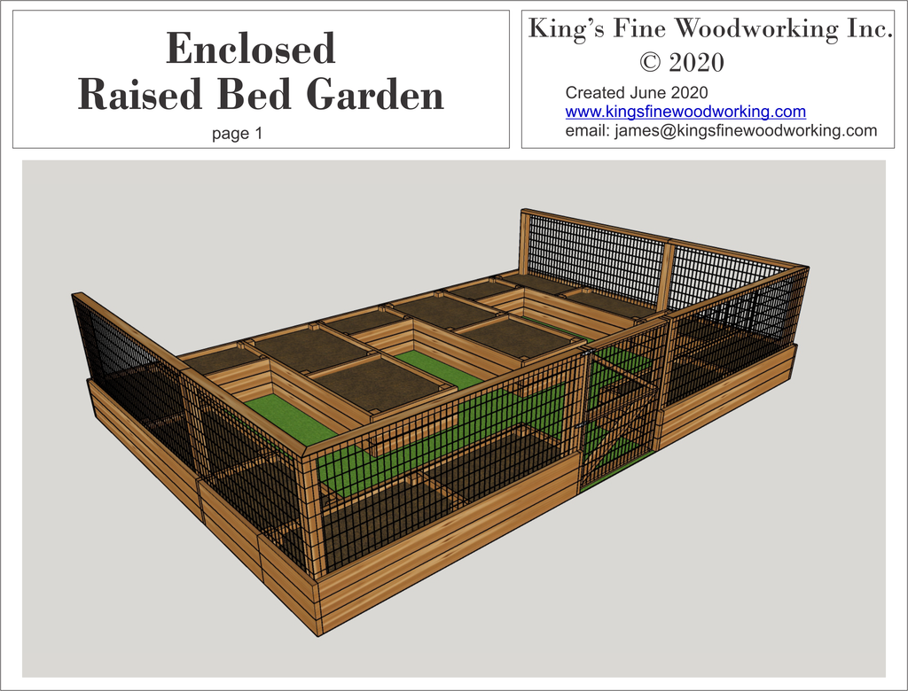 3D Plans for the Raised Bed Garden