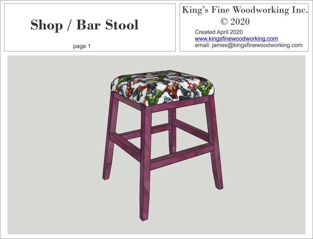 Plans for the Shop and Bar Stools