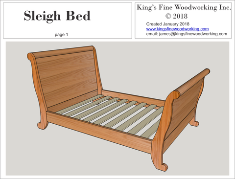 Sleigh Bed Heirloom Piece Woodworking Plans