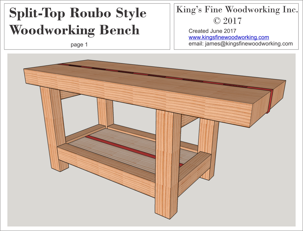 Split Top Roubo Woodworking Bench King S Fine Woodworking Inc