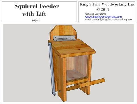Squirrel Feeder with lid lift Kings Fine Woodworking