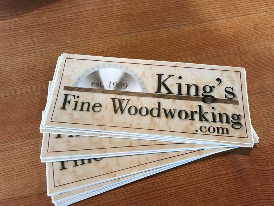Official Sticker for King's Fine Woodworking