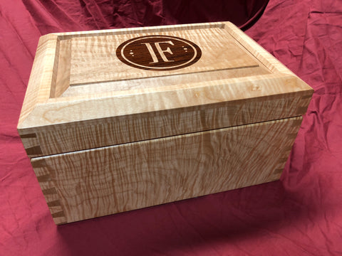 Cigar Humidor made from Highly Figured Tiger Maple