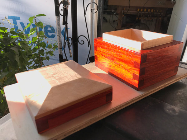 Padauk & Figured Maple Keepsake Box