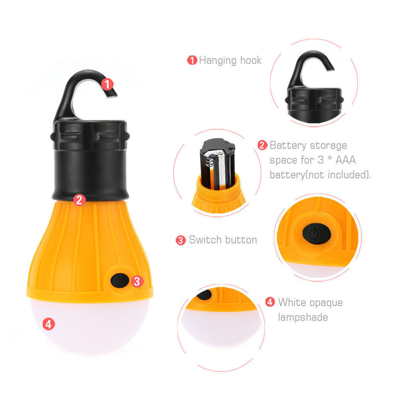 Battery Operated Camping Light Widely Used For Camping, Fishing, Back Packing, Boating & outdoor  activities!