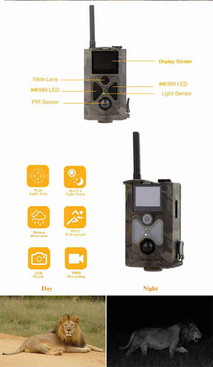 HC500M Hunting Digital Infrared Scouting Trail Camera LED Night Vision 1080P Video