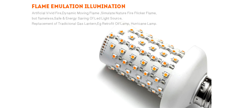 LED Flame Effect Flickering Emulation Fire Light Bulbs