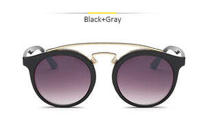 GATSBY Double Bridge Round Sunglasses Women Men Fashion Aviation Mirror Sun glasses