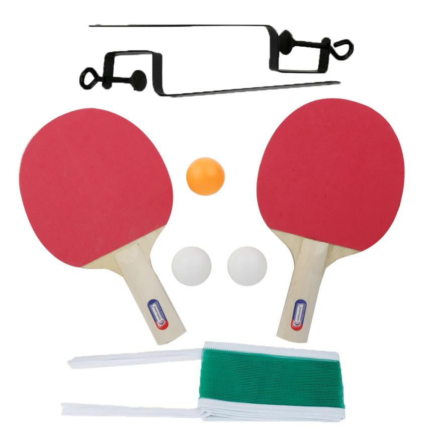 Table Tennis and Grid Ping Pong Racket Two Sides Sponge Long Handle for Child