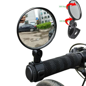 2Pcs/Pair Bicycle Handlebar Mirror Scooter Rotaty Road Bike Handlebar Rearview Rear Back View Cycling Mirror Glass wholesale #EW