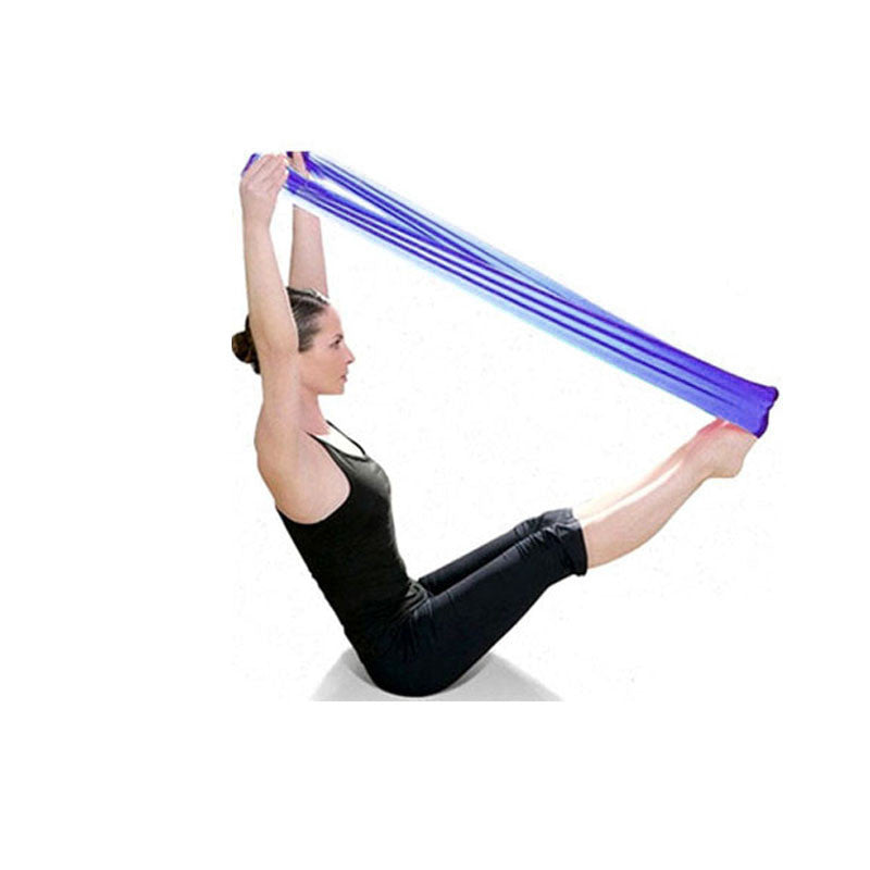 2018 New Pilates Yoga Resistance Bands Aerobics Stretch Tensile Elastic Band yoga banda de resistencia