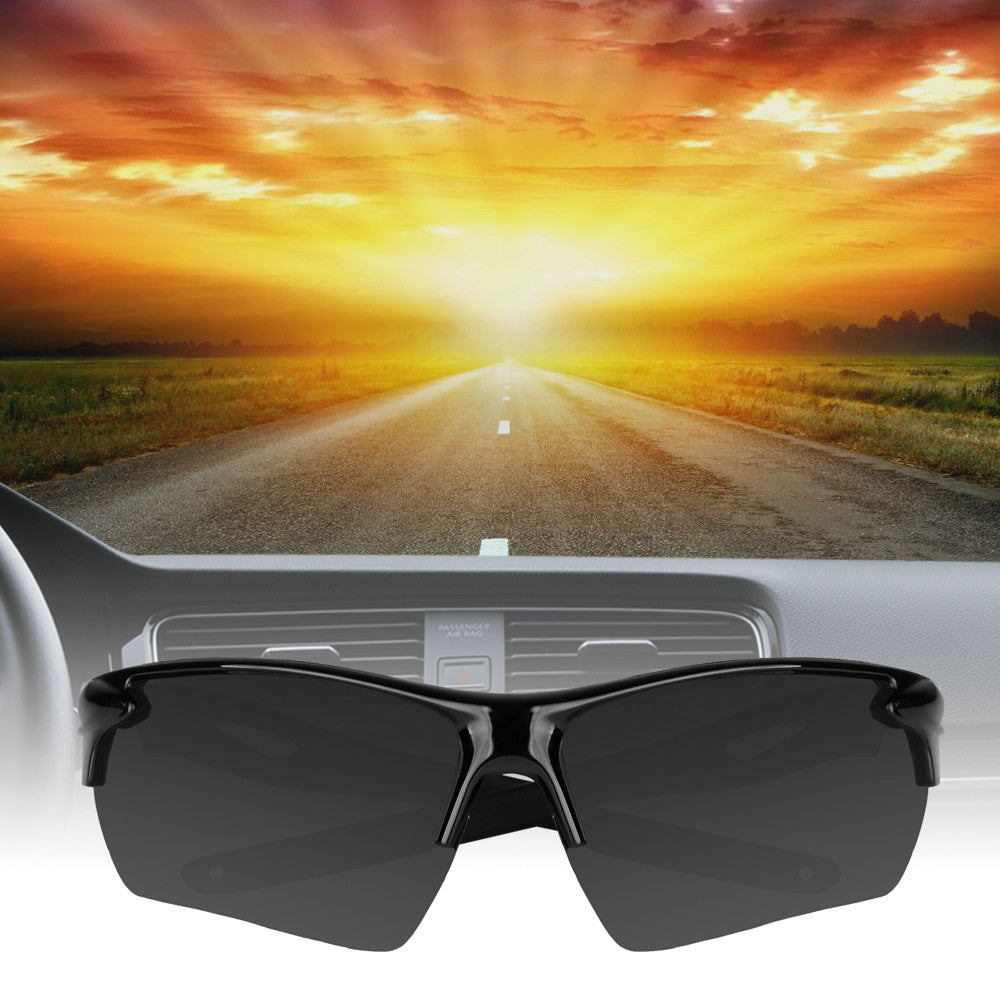 Fashionable UV400 Half Frame Sunglasses for Outdoor Sport Traveling Fishing Hiking Camping