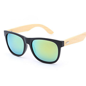 Bamboo Wooden Mirror Sunglasses