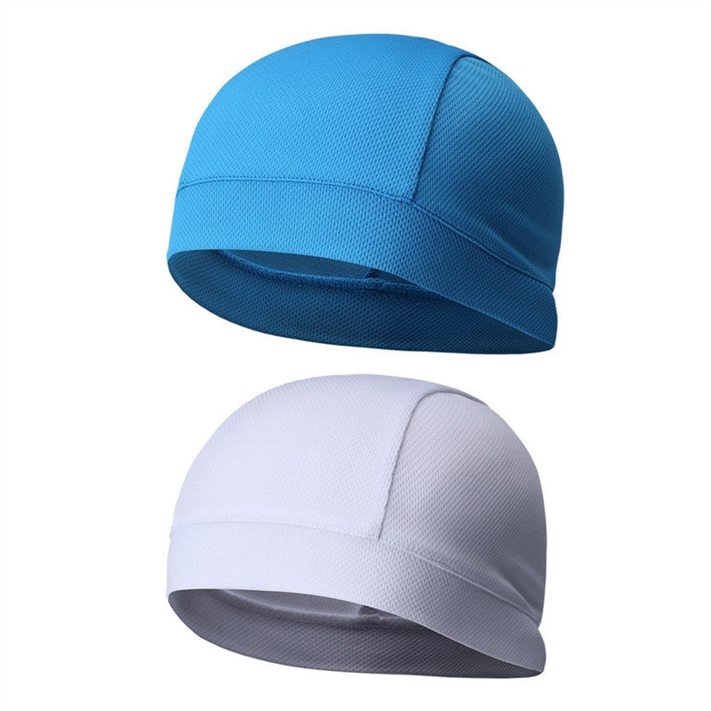 2Pcs Skull Cap Quick Dry Sports Sweat Beanie High Elasticity Cycling Caps Headband Sweatband for Man Woman