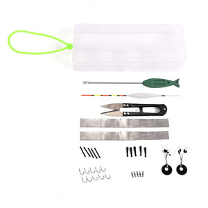 Assorted Fishing Tackle Set Box Fishing Accessories Kit Fishing Hooks Environmentally Friendly Lead Sheet Accessories