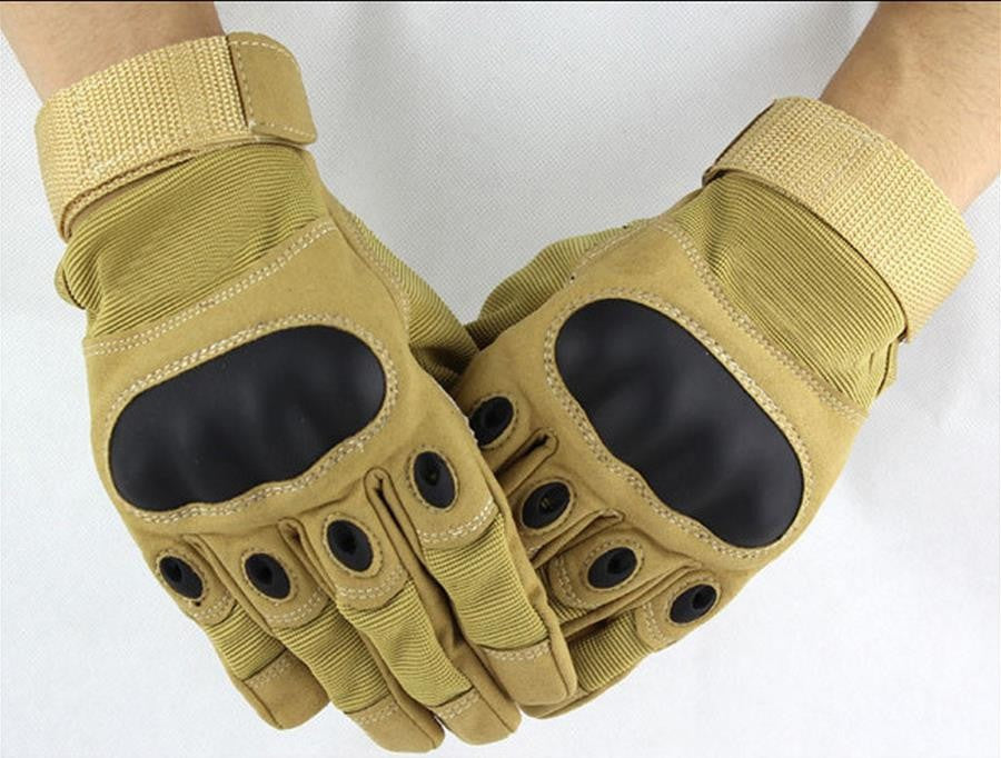 Tactical Hard Knuckle Full Finger Gloves for Paintball & Outdoor Sports