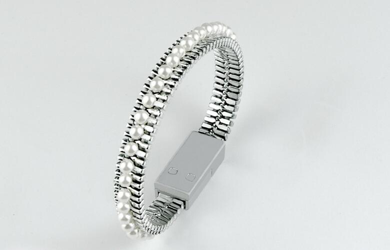 Bright Designer Wearable Bracelet w/  Lightning USB Charger Cable For All Cell Phones
