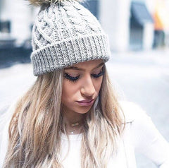 Taupe Beanie - Downtown Native