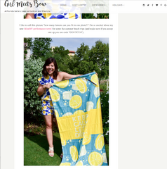 Girl Meets Bow's blog - BeachTech Towel