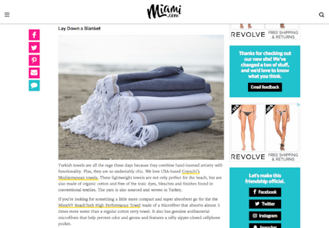 Miami.com - MinxNY BeachTech Towel
