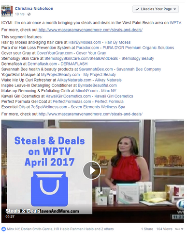 Steals & Deals on WPTV - SPA Collection - Makeup Remover