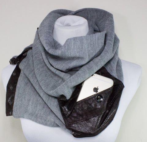 Leather Scarf - Hygge Store - MinxNY