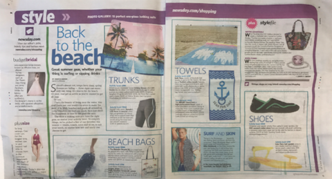 """Back to the Beach"" in today's edition of Newsday! - BeachTech Towel"