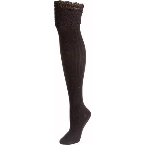Knee High Lace Boot Socks