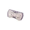 "Women's Cosmetic Headband, Lavender with ""Flower"" print Gingham Style Bow, by MinxNY"