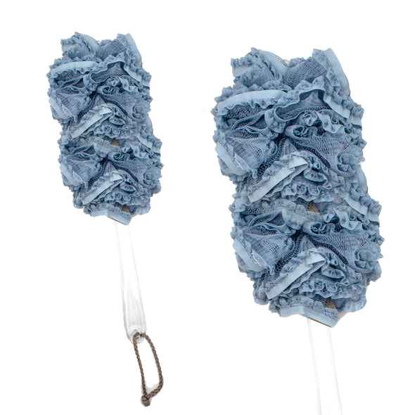Exfoliating Luxury Lace Poof On a Stick