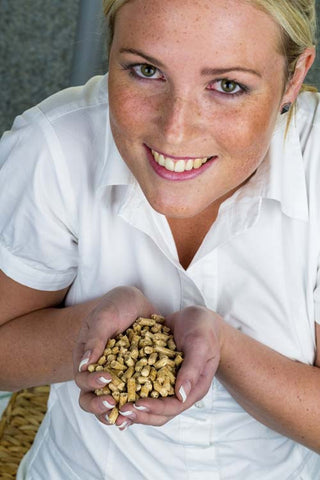 Sarah with Simply Wood Pellets