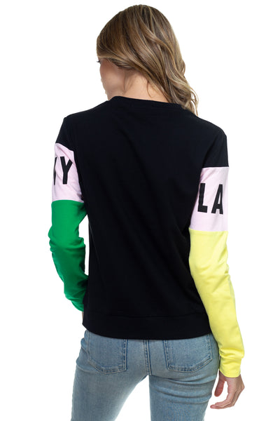 multi colorblock sweatshirt - LANY