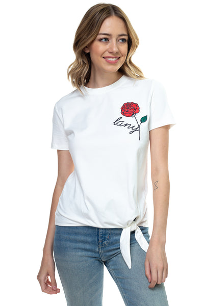 Single Rose Ribbon Tie Shirt - LANY
