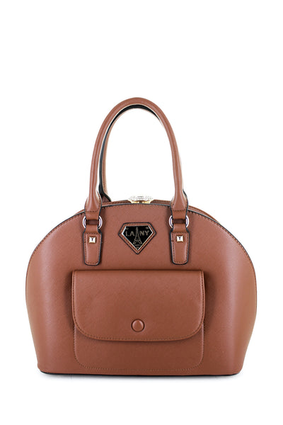 Jane Stone Clasp Dome Satchel - LANY