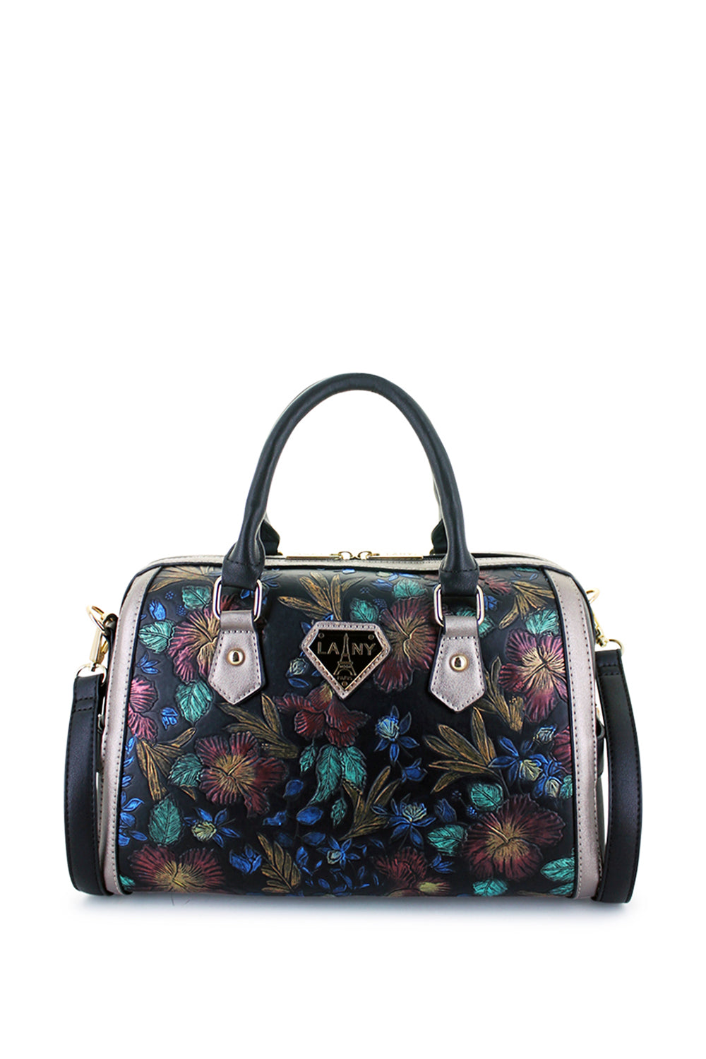Laila Painted Floral Satchel - LANY