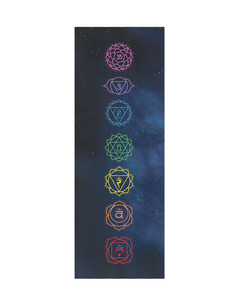 Midnight Chakra Yoga Mat - Eco Friendly, Non-Slip Yoga Mat by Apeiron Yoga