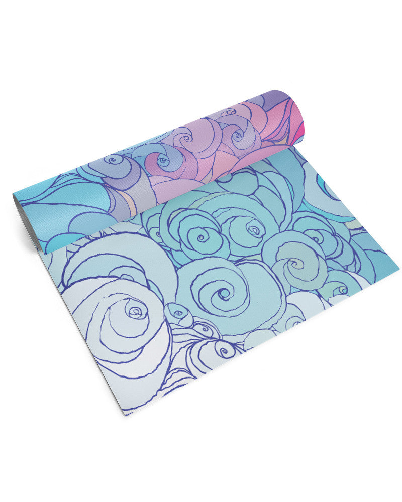 Pretty Thoughts Yoga Mat - Eco Friendly, Non-Slip Yoga Mat by Apeiron Yoga