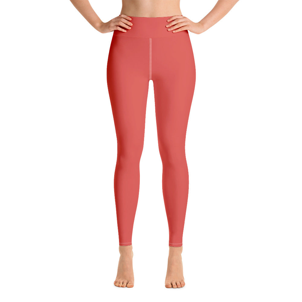 Fiesta Red Yoga Leggings