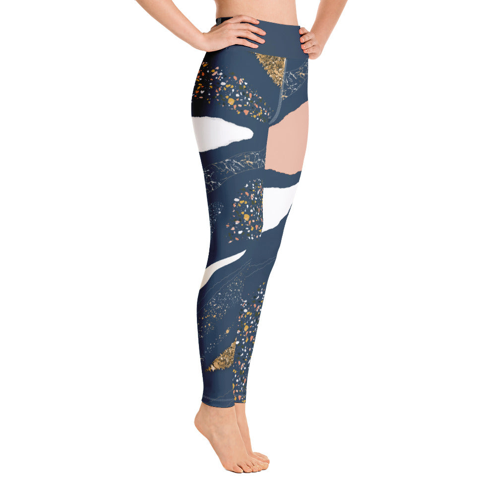 Blue Granite Yoga Leggings