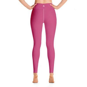Pink Peacock Yoga Leggings
