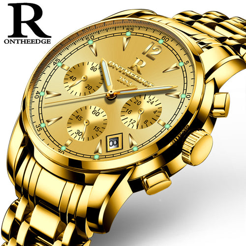 Luxury Gold Stainless Steel Watch