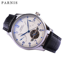 2017 New Automatic Watch Men 43mm Parnis Tourbillon Sea Gull Power Reserve Men's Mechanical Watches Stainless Case Wrist Watch